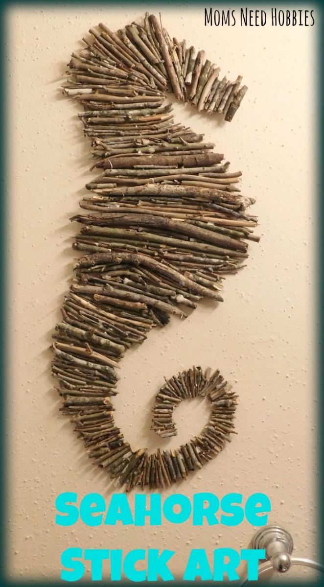 Seahorse Stick Art